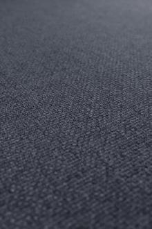 Italian Silk and Wool Suiting in Steel Blue0