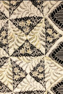 Beaded Embroidered Chantilly Lace0
