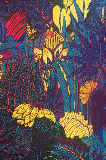 Ratti Italian Cotton Sateen Exotic Plants Print0
