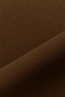 Italian Wool Satin Faille in Sepia0