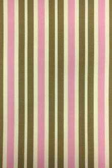 Wool Lycra Suiting Stripe in Pink and Olive0