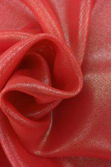 Microfiber Silver Metallic Chiffon in Ruby0