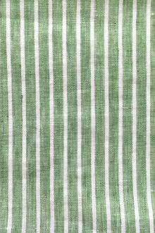 Handkerchief Linen Woven Stripe in Green0