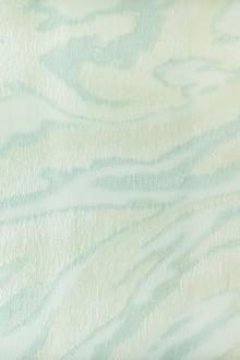 Silk and Viscose Blend Fil Coupé Organza with Pastel Swirls0