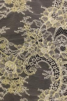 Metallic Alençon Lace0