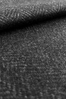 Zegna Cashmere Herringbone Suiting in Charcoal Grey0