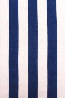 "Cotton Sateen 1"" Stripe In Blue And White0"
