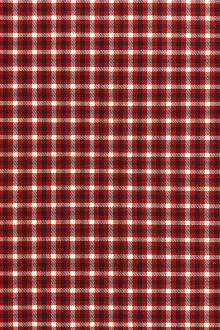 Stretch Wool Suiting Tattersall Plaid in Red0