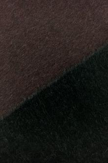 Italian Doubleface Cashmere Coating in Wine and Black0