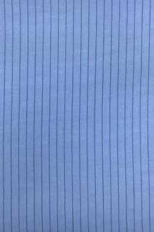 Cotton Striped Gauze in French Blue0