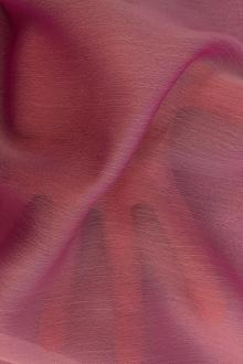 Iridescent Polyester Chiffon in Paris Pink0