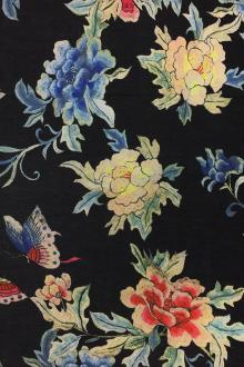 Cotton And Silk Voile With Floral Print0