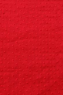 Cotton Embroidered Dots in Red0
