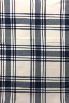 Japanese Cotton Rayon Tencel Twill Plaid0