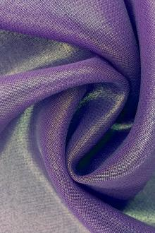Microfiber Gold Metallic Chiffon in Purple0
