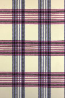 Italian Wool Lycra Plaid in Pink and Violet0