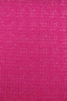 Wool and Nylon Lurex Tweed in Fuchsia0