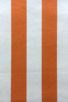 "Cotton Upholstery 1.5"" Stripe In Orange And White0"