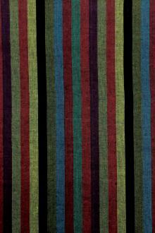 Cotton Woven Stripe in Multi0