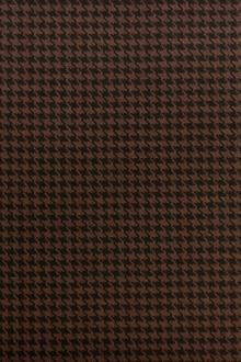 Italian Wool Houndstooth in Moro0