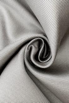 Silk and Wool Twill in Silver0