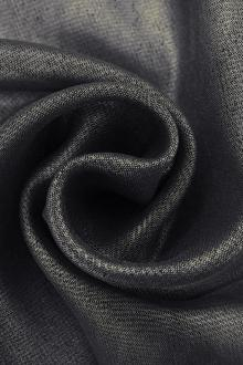 Microfiber Silver Metallic Chiffon in Midnight Navy0