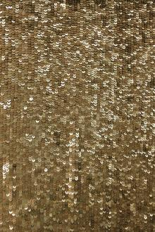Rows of Gold Sequins on Silk Chiffon0