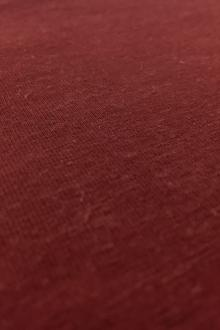 Certified Organic Hemp and Cotton Jersey in Heretic Red0
