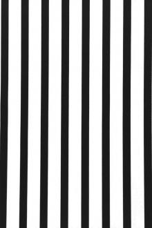 "Cotton Rayon Black And White 1/2"" Satin Stripe0"