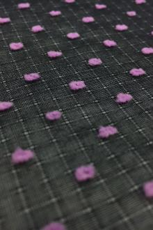 Cotton Plumetis in Black Violet0