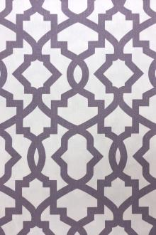 Lilac Imperial Trellis Cotton Canvas Print0