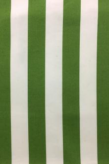"Cotton Satin Gabardine 1"" Stripe In Green And White0"