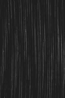 Linen Novelty Stripe in Black0