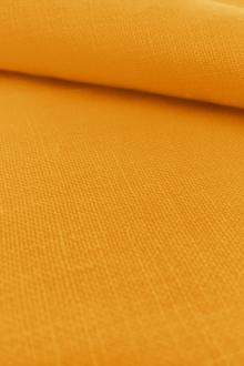 Belgian Sanforized Linen in Egg Yolk Yellow0