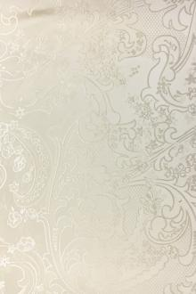 Eggshell Silk Brocade with Deconstructed Paisleys and Florals0