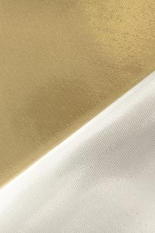 Silk and Polyester Blend Doubleface Lamé0
