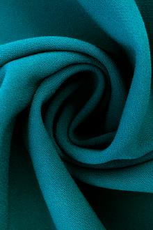 Polyester Stretch Crepe in Teal0