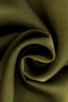 Iridescent Polyester Chiffon in Army Green0