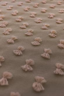 Silk and Cotton Swiss Dot Chiffon in Nude0