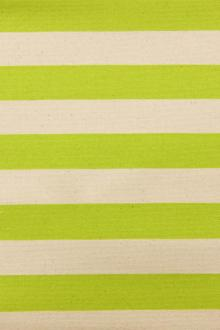 "Japanese Cotton Canvas 1.25"" Stripe In Lime And Natural0"