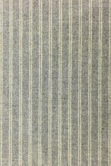 Italian Wool Blend Striped Flannel0