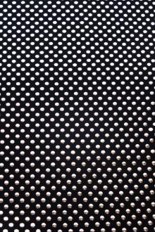 Poly Spandex with Metallic Dots0