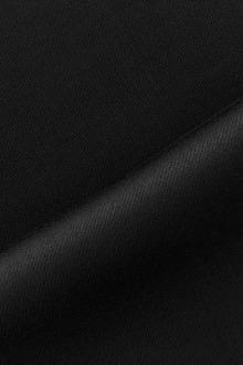 Italian Wool Satin Faille in Black0