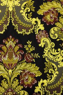 Italian Heavy Metallic Brocade with Regal Motifs0