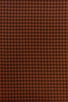 Italian Wool Houndstooth in Arancio0