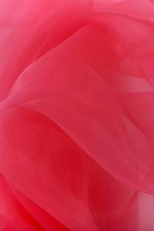 Japanese Polyester Extra Fine Organza in Flamingo0