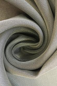 Metallic Silk and Viscose Blend Heavy Crepe0