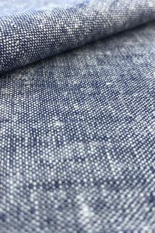 Washed Lightweight Linen Rayon Blend in Denim0