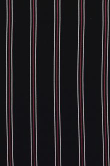 Polyester Georgette Stripe in Navy0