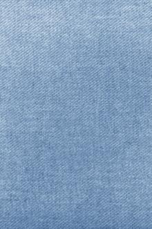 Poly Cotton Linen Blend Twill in Cool Blue0